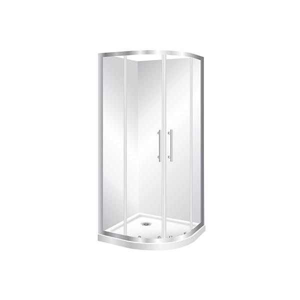 Curved Corner Bathroom Shower The, Corner Shower Curved Glass Doors